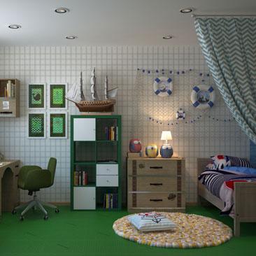 Уютные интерьеры детских комнат - портфолио.