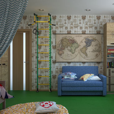 Стильные интерьеры детских комнат - портфолио.