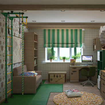 Интерьер-проекты детских комнат - фото галерея.