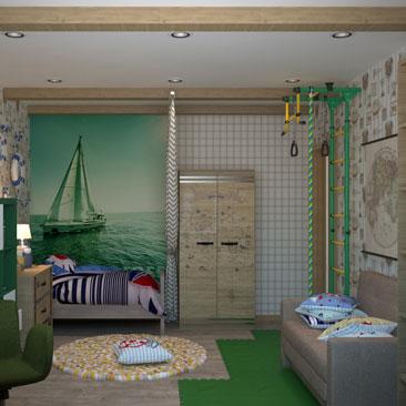 Интерьерный дизайн детских комнат - фото галерея.