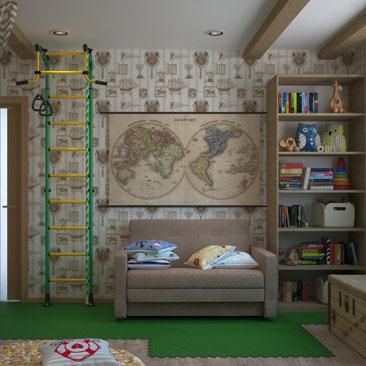 Интерьеры и дизайн детских комнат - фото галерея.