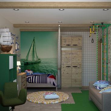 Интерьеры детских комнат - фото галерея.
