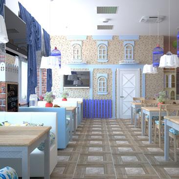 Дизайн детского кафе - фотогалерея интерьера.