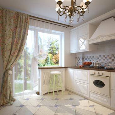 Проект интерьера кухни в классическом стиле - галерея дизайн-проектов.