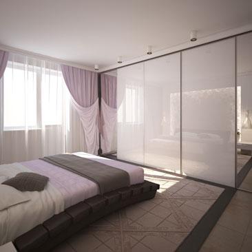 Красивые современные спальни: фотогалерея проектов.