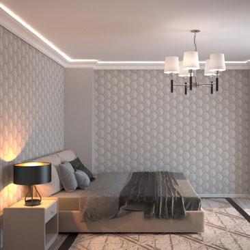 Современные спальни в квартирах и коттеджах - услуги по проектированию.