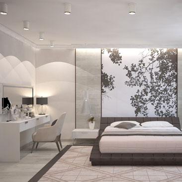 Дизайн спальни в современном стиле - портфолио проектов.