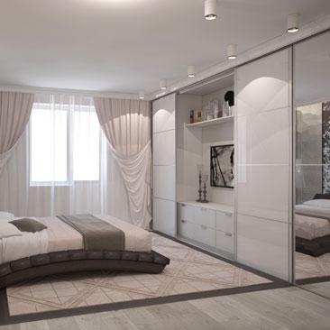 Интерьер спальни — современный дизайн.