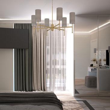 Дизайнерские интерьеры спален - галерея, портфолио.