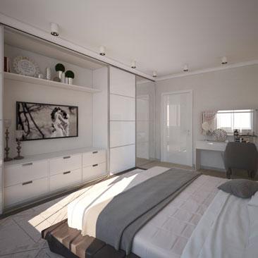 Лаконичные спальни - портфолио проектов.