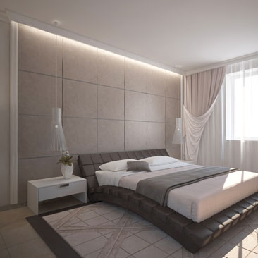 Оригинальные спальни - портфолио проектов.