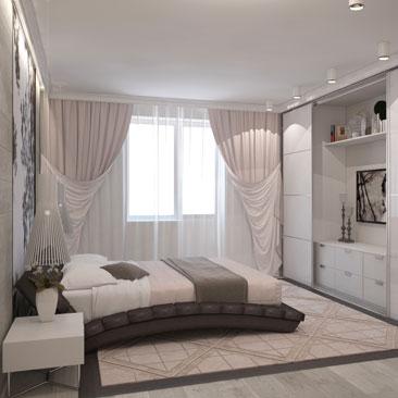 Стильные спальни - портфолио проектов.