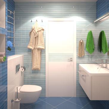 Дизайн-проекты санузлов в домах и квартирах - галерея проектов.