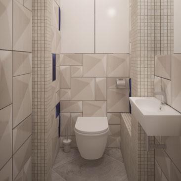 Дизайнерские проекты санузлов в коттеджах и в квартирах - галерея интерьеров.