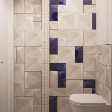 Уютные ванные и туалетные комнаты - портфолио дизайна.