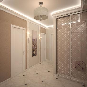 Оригинальные интерьеры прихожих и коридоров. Дизайн. Проекты.