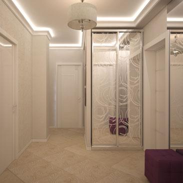 Оригинальные и красивые интерьеры прихожих и коридоров.