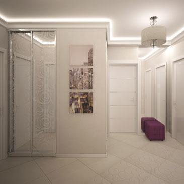 Профессиональные проекты холлов в коттеджах и в квартирах - галерея, фото.