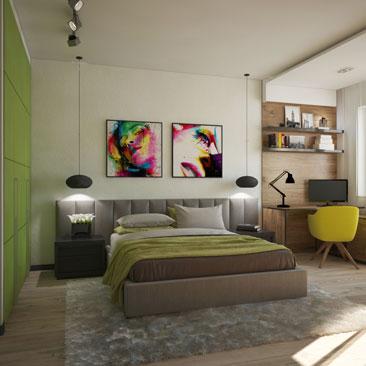 Новые дизайн-проекты интерьеров спален 2017