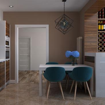 Новые дизайн-проекты интерьеров кухонь фото