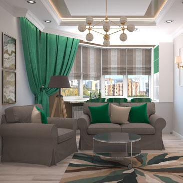 Новые проекты гостиных