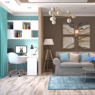Дизайн интерьера гостиной комнаты 2017