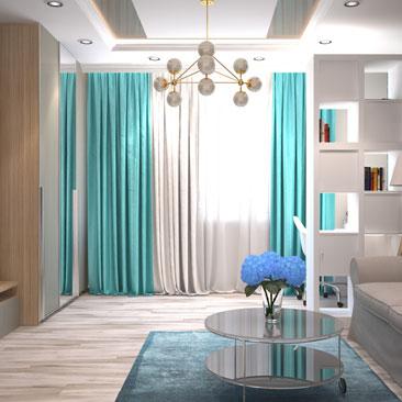 Проект дизайна интерьера гостиной фото