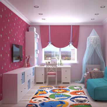Дизайн детской комнаты — фото интерьера детской.