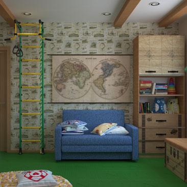 Актуальные идеи для дизайна детской комнаты в 2017.