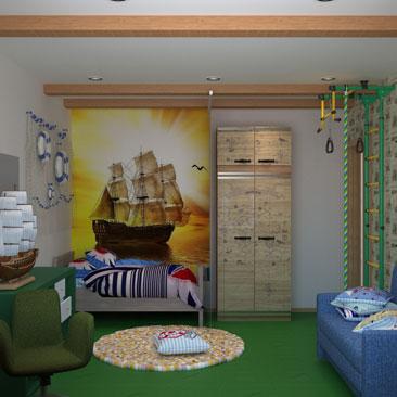 Элитный дизайн интерьера детской комнаты.
