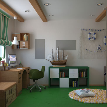 Дизайн детской 2017. Идеи оформления детской комнаты.