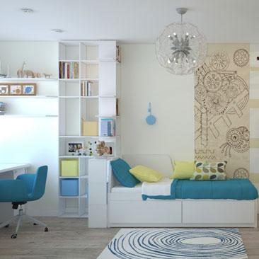Дизайн детской комнаты. Фото 2017.