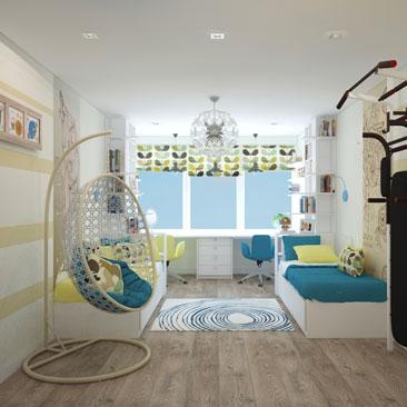 Дизайн детской комнаты 2017 года.