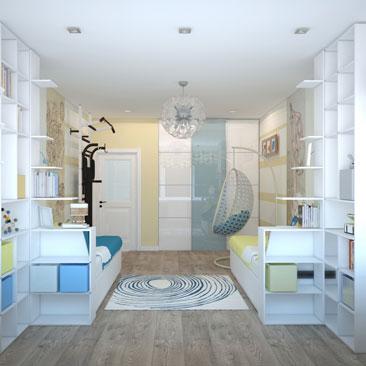 Дизайн интерьера детской комнаты 2017.