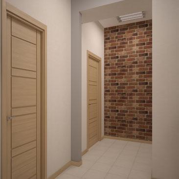 Дизайн-проект офисного коридора - фото.