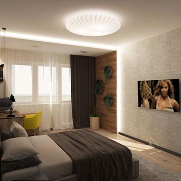 Дизайн интерьера спальни в Москве, Балашихе, Реутове.