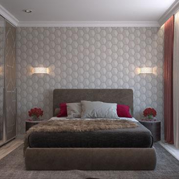Дизайн-проект интерьера спальни в Москве, Щёлково, Мытищах.