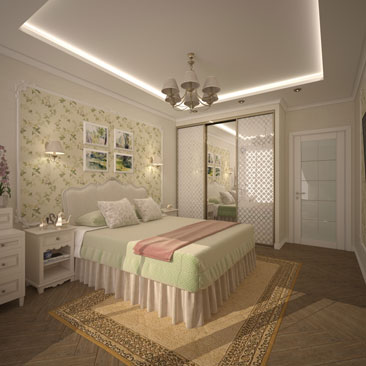 Проекты интерьера спальной комнаты 2017 года.