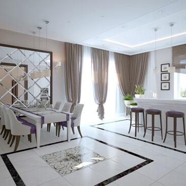 Современные тенденции в дизайне интерьера домов и коттеджей 2017