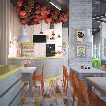 Дизайн-проектирование детских кафе - работы профессиональных специализированных дизайнеров.