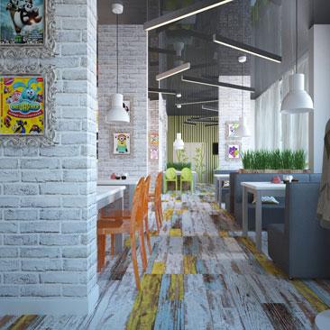 Детские кафе интерьер фото идея