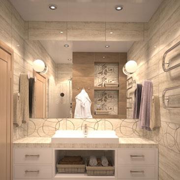Портфолио дизайнеров - дизайн проекты ванных комнат 2017.
