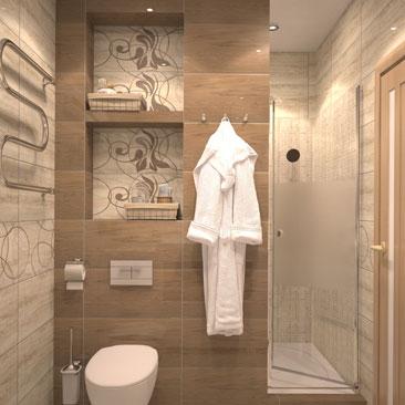 Авторский дизайн ванных комнат 2017 года.