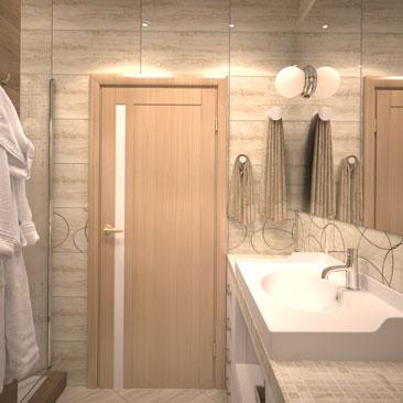 Дизайнерские проекты ванных комнат 2017 года.