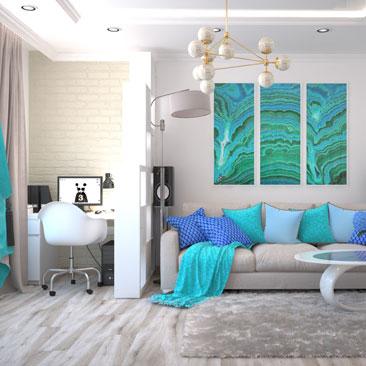 Интерьер гостиной — фото дизайна в квартирах.