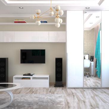 Дизайнерские решения гостиной в квартире.