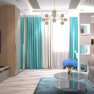 Гостиная и кабинет в одном помещении: фотографии, дизайн-проекты.