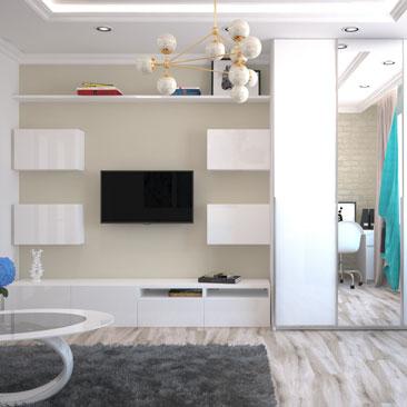 Проекты гостиных комнат 2017 фото.