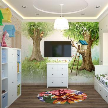 Дизайн интерьера детской с фотообоями (идеи и проекты 2017 года).