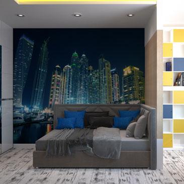 Примеры дизайна интерьера комнаты для мальчика-подростка. Проекты 2017.